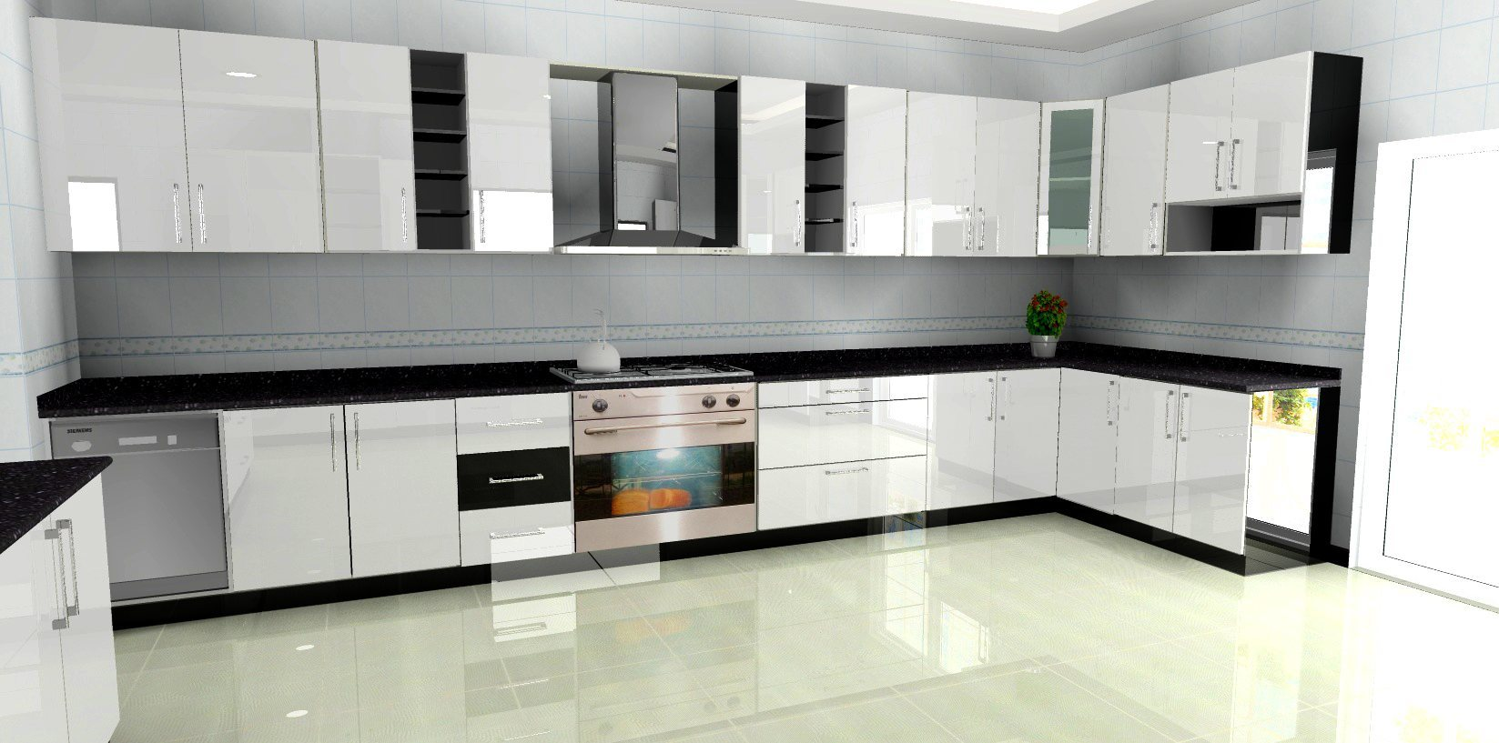 Kitchen cabinets dubai kitchen interior design shafic for Toko aluminium kitchen set