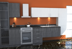 Contemporary Kitchen with Egger doors
